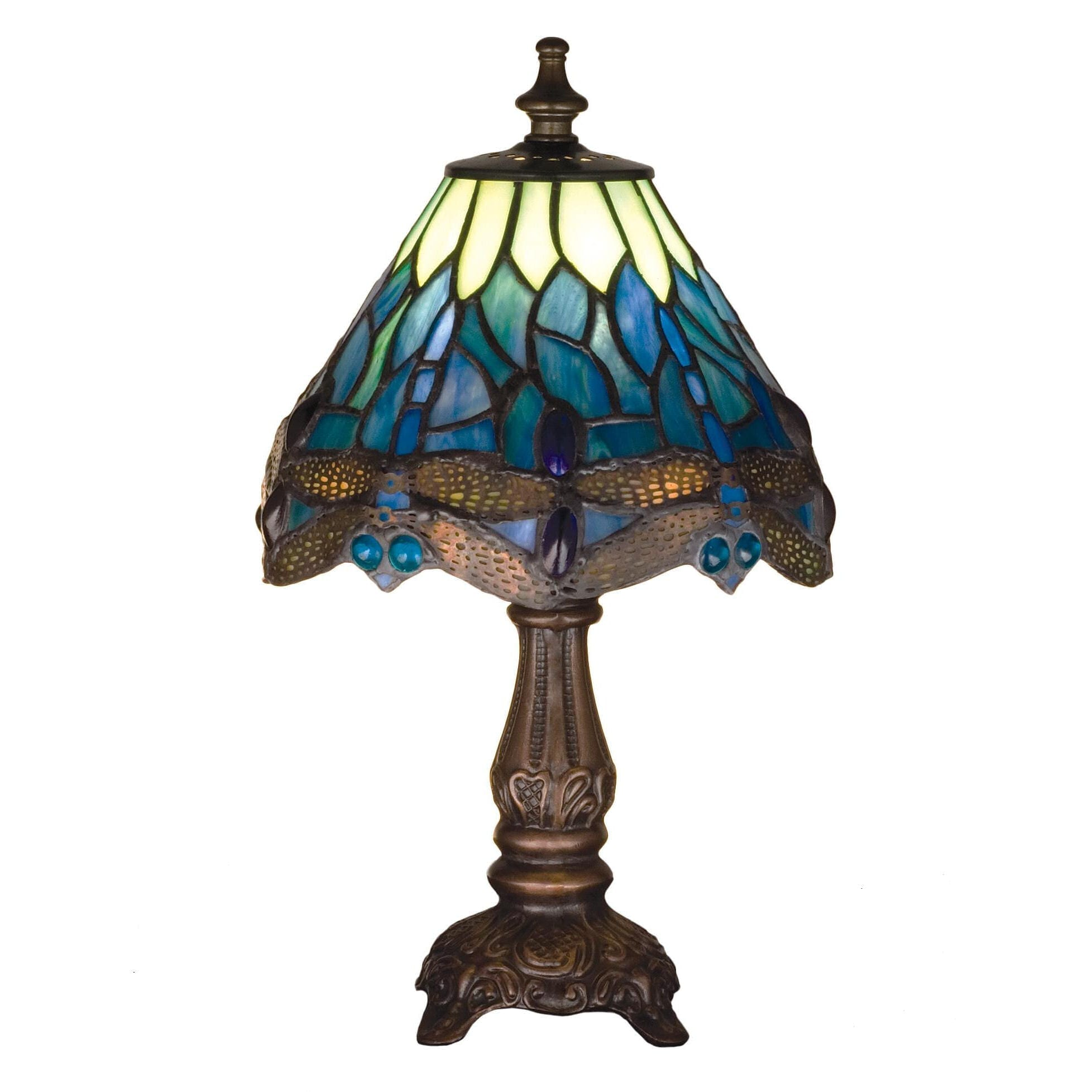Picture of: Small Tiffany Blue Dragonfly Lamp Romantic Dinner Table Lighting