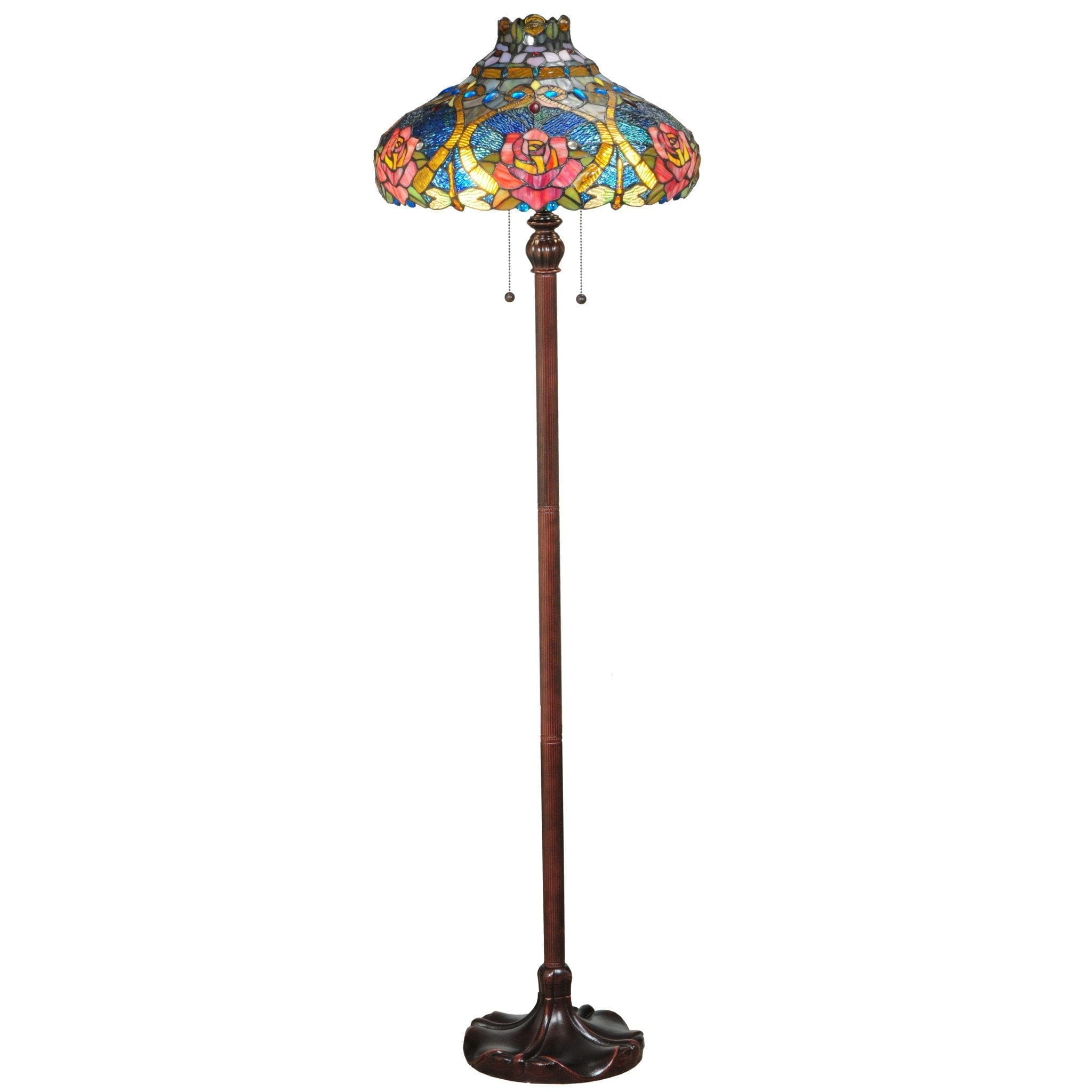 Dragonfly Rose Floor Lamp Colorful Home