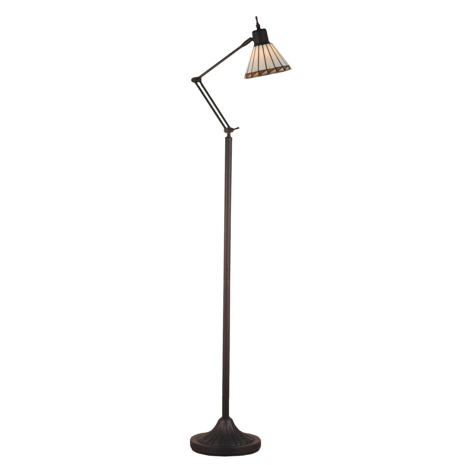 Floor Reading Lamp Stained Gl