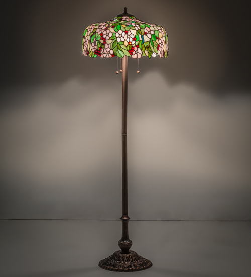 Cherry Blossom Floor Lamp Stained Gl
