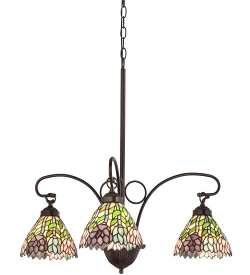 Stained Gl 3 Light Chandelier