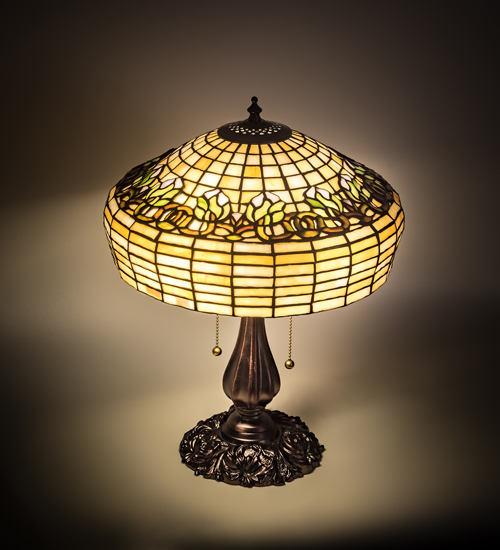 Fluted Tulip Tiffany Style Table Lamp