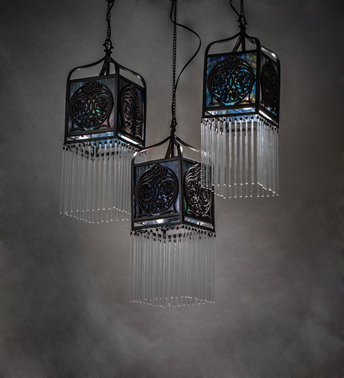 3 Pendant Light For Kitchen Tiffany Style Stained Glass Decor